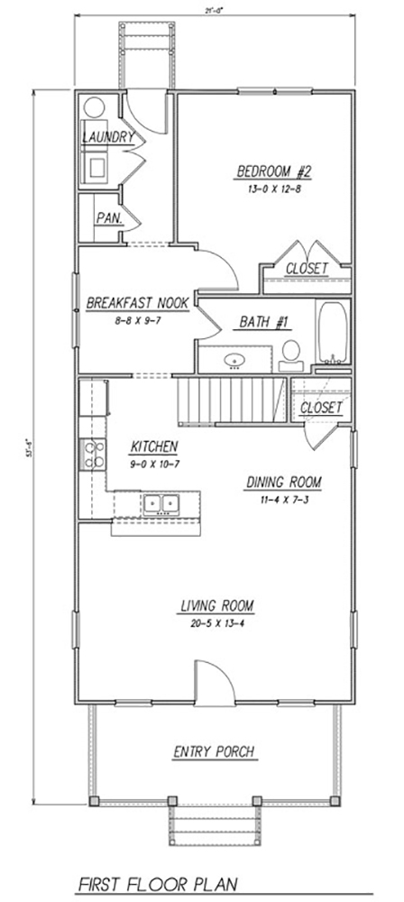1st Floor Plan image of Featured House Plan: BHG - 1505
