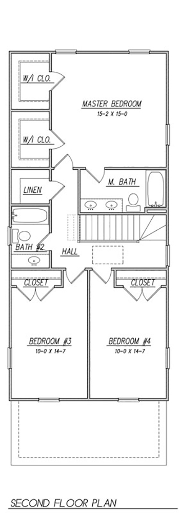 2nd Floor Plan image of Featured House Plan: BHG - 1505