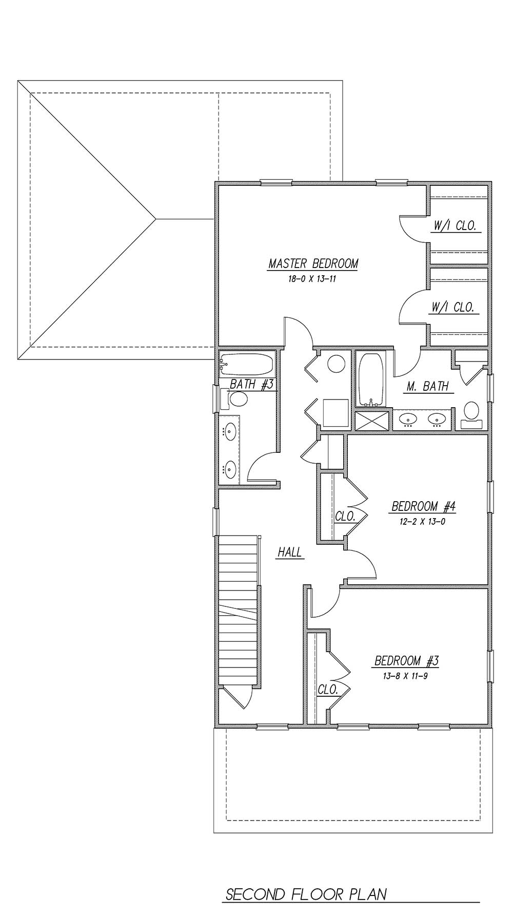 2nd Floor Plan image of Featured House Plan: BHG - 1930