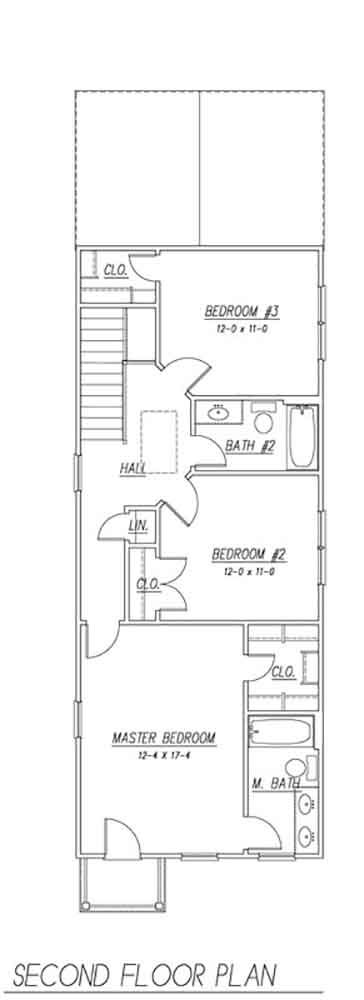 2nd Floor Plan image of Featured House Plan: BHG - 1627