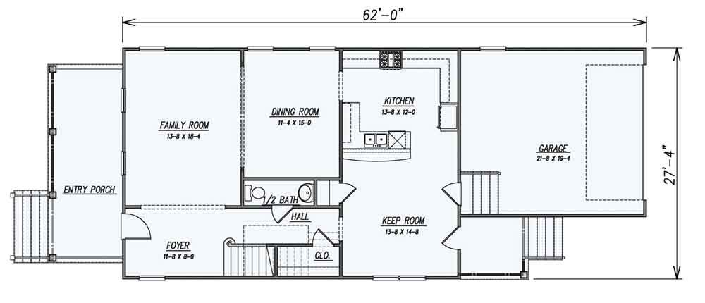 1st Floor Plan image of Featured House Plan: BHG - 1609