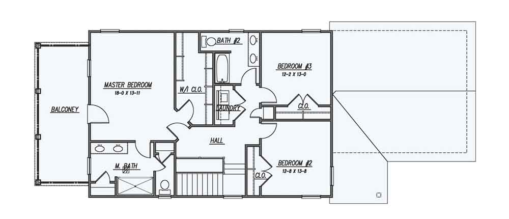 2nd Floor Plan image of Featured House Plan: BHG - 1609