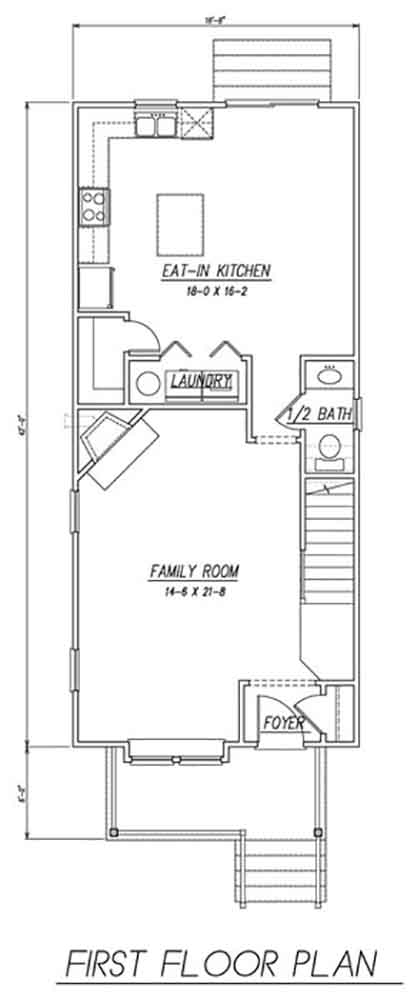 1st Floor Plan image of Featured House Plan: BHG - 1536