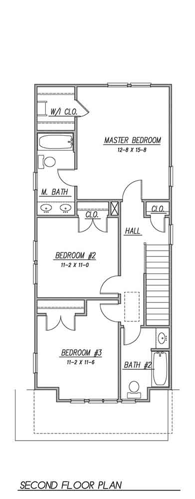 2nd Floor Plan image of Featured House Plan: BHG - 1536