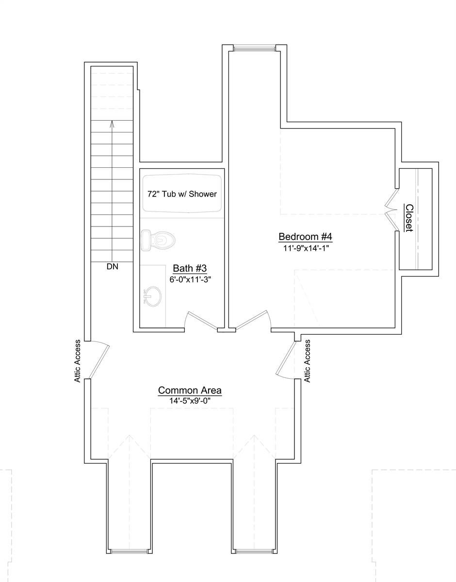 2nd Floor Plan image of Featured House Plan: BHG - 6899