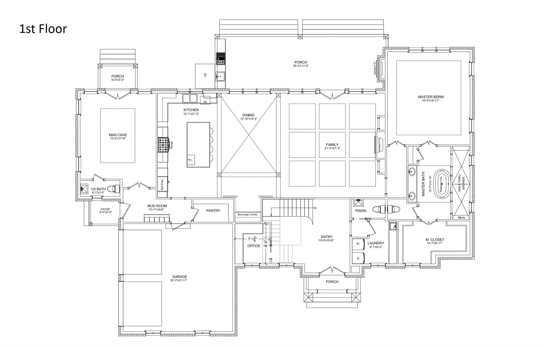 1st Floor Plan image of Featured House Plan: BHG - 6900