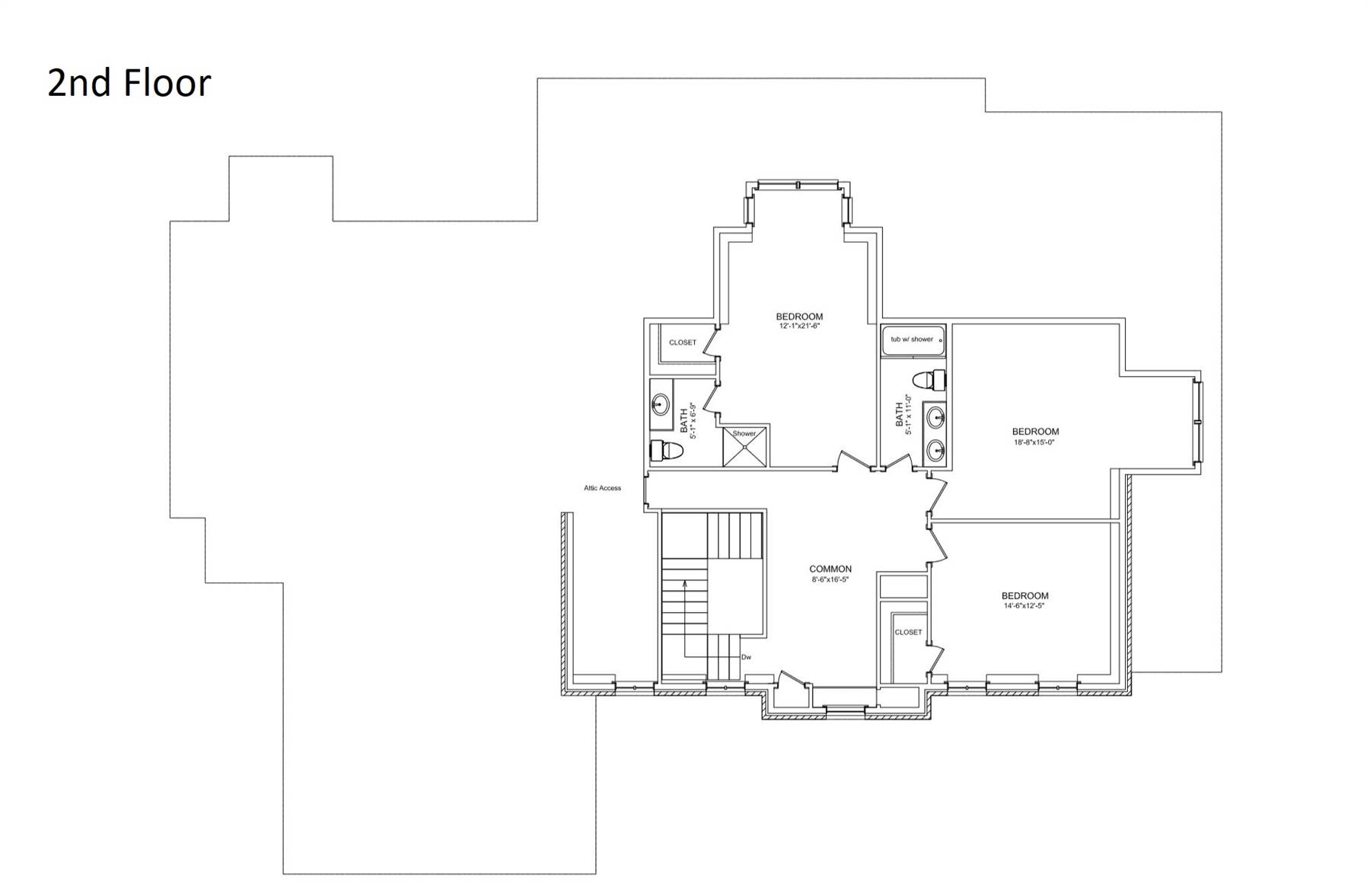 2nd Floor image of Featured House Plan: BHG - 6900