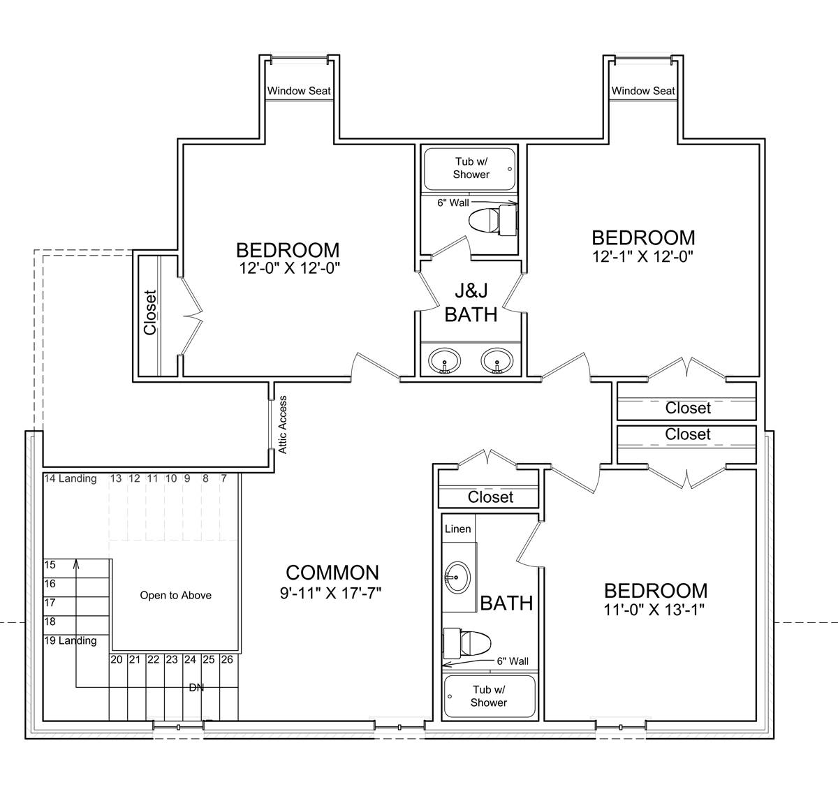 2nd Floor Plan image of Featured House Plan: BHG - 7524