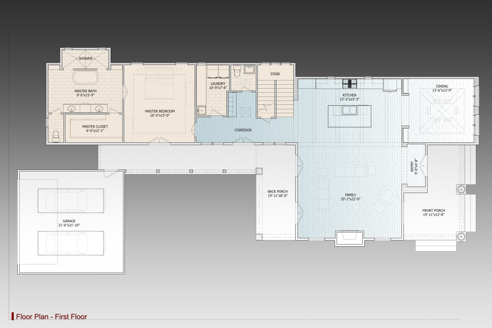1st Floor Plan image of Featured House Plan: BHG - 9625