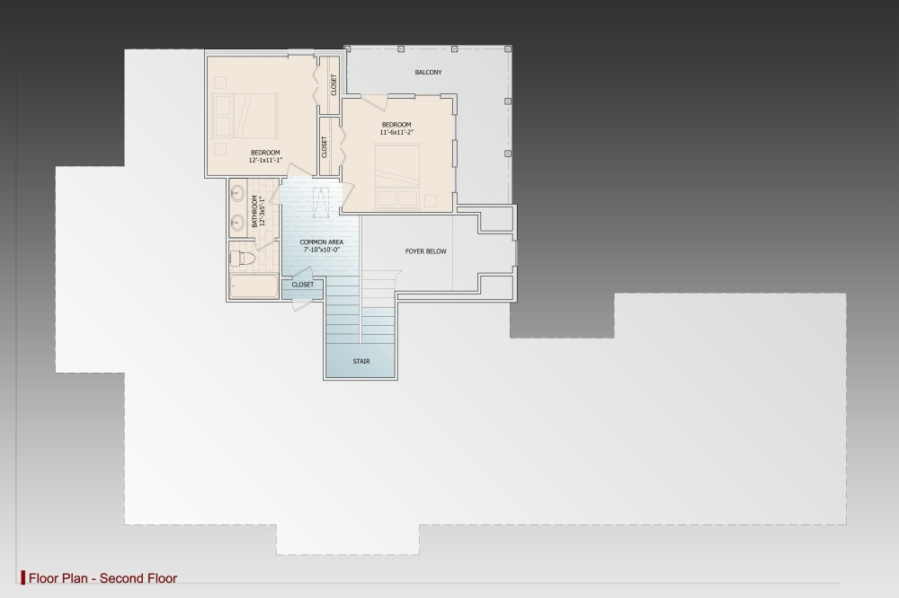 2nd Floor image of Featured House Plan: BHG - 9628