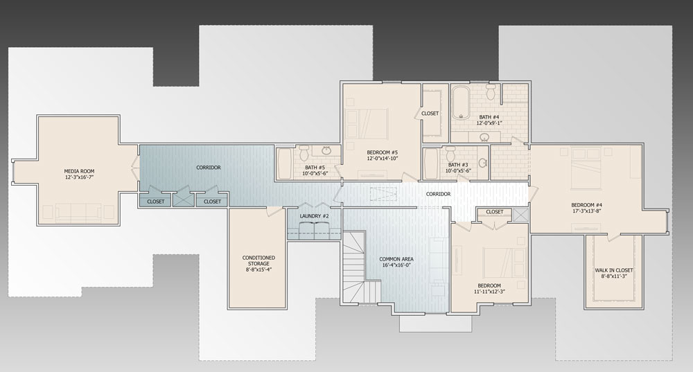 2nd Floor image of Featured House Plan: BHG - 9643