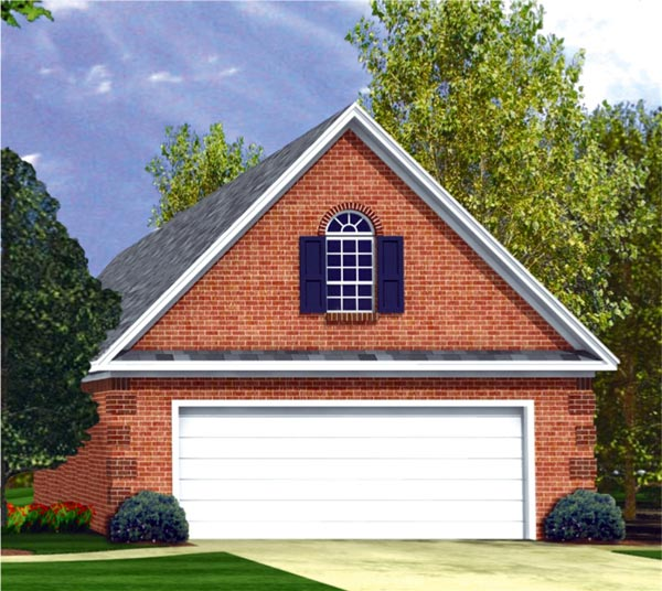 Traditional Garage House Plan