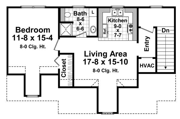 2nd Level Floorplan image of Featured House Plan: BHG - 4204