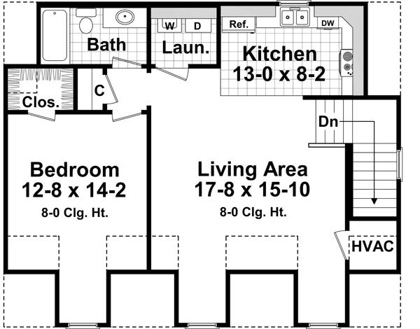 2nd Level Floorplan image of Featured House Plan: BHG - 4205