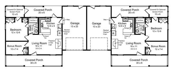 1st Level Floorplan image of Featured House Plan: BHG - 7086