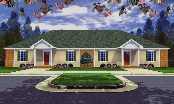 Three Bedroom Duplex House Plan
