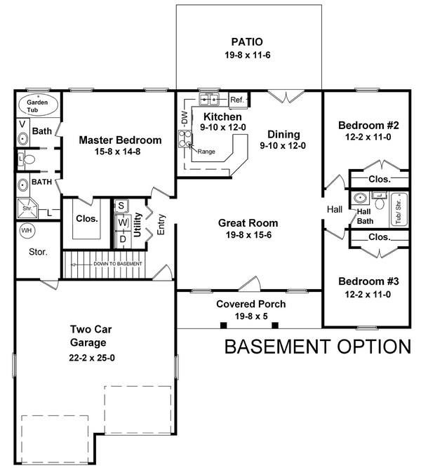 Basement Floorplan image of Featured House Plan: BHG - 5694