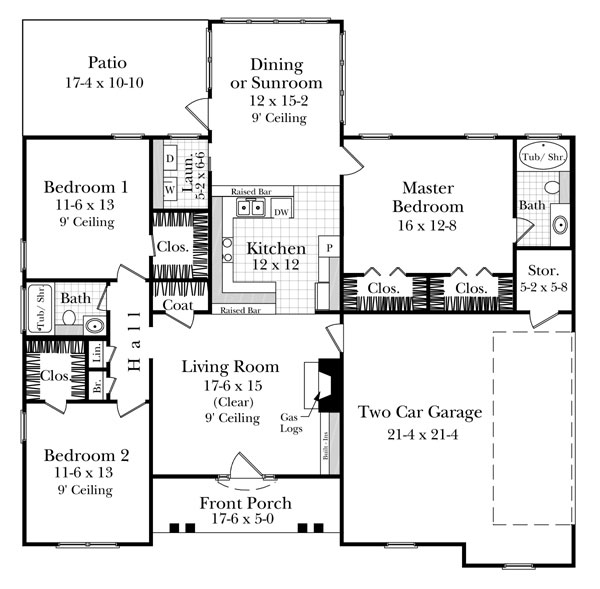 Floorplan image of Featured House Plan: BHG - 5865