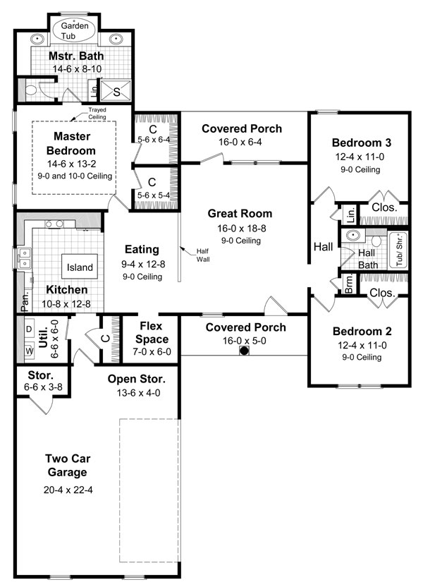 Floorplan image of Featured House Plan: BHG - 5869