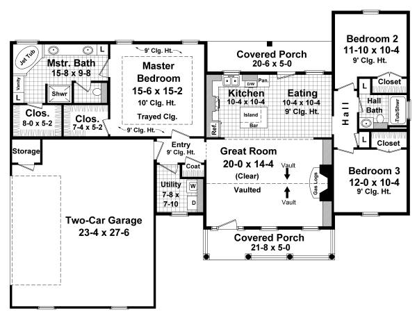 Floorplan image of Featured House Plan: BHG - 3081