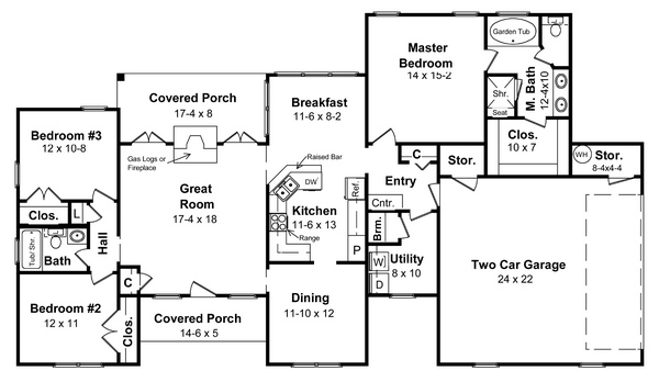 Floorplan image of Featured House Plan: BHG - 5687