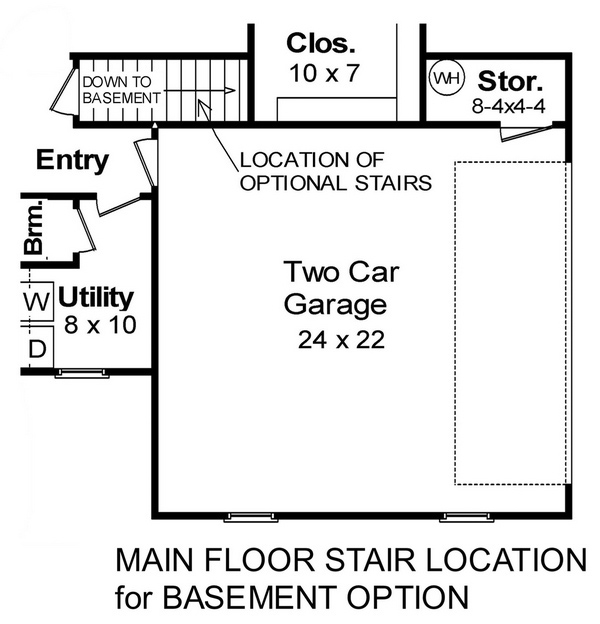Basement Floorplan image of Featured House Plan: BHG - 5687