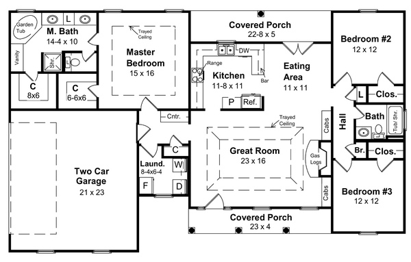Floorplan image of Featured House Plan: BHG - 5738
