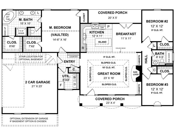 Floorplan image of Featured House Plan: BHG - 5721