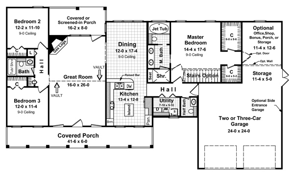 Floorplan image of Featured House Plan: BHG - 5719
