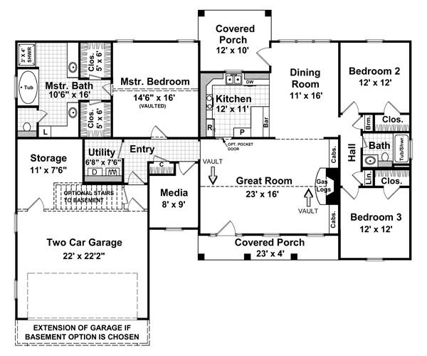 Floorplan image of Featured House Plan: BHG - 5749