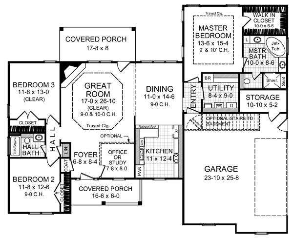 Floorplan image of Featured House Plan: BHG - 5760