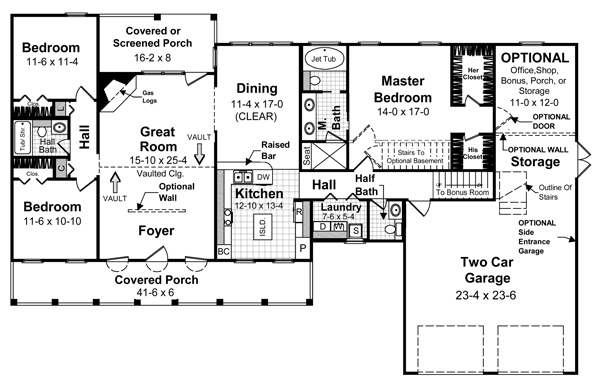 Floorplan image of Featured House Plan: BHG - 5698