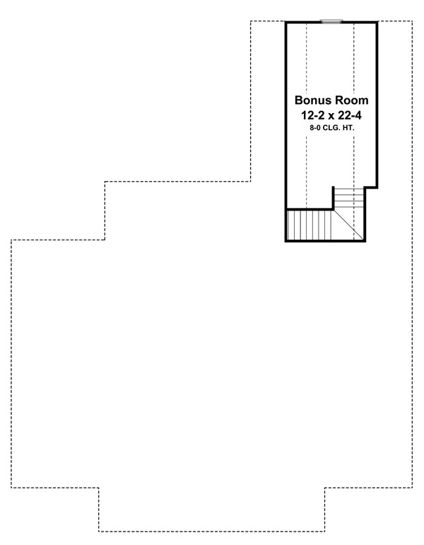 Bonus Room Floorplan image of Featured House Plan: BHG - 7028