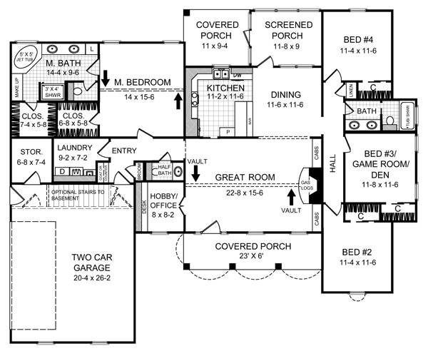 Floorplan image of Featured House Plan: BHG - 5720