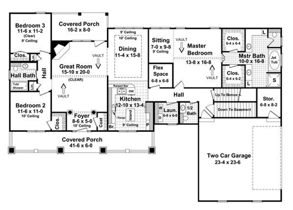 Basement Option Floorplan image of Featured House Plan: BHG - 5764