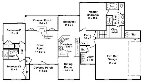 Floorplan image of Featured House Plan: BHG - 5877