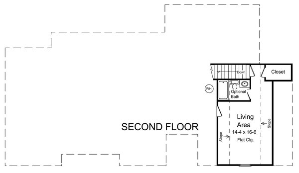 2nd Level Floorplan image of Featured House Plan: BHG - 5877