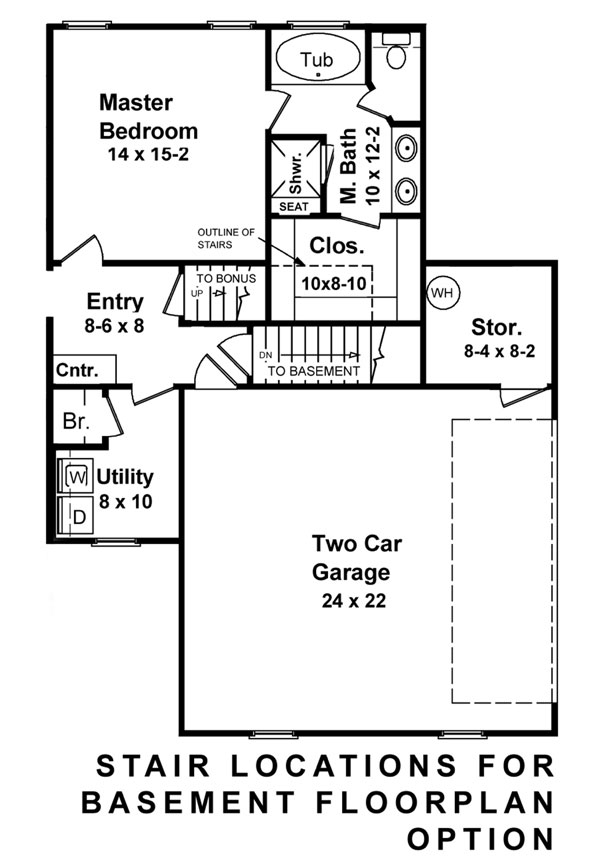 Basement Floorplan image of Featured House Plan: BHG - 5877