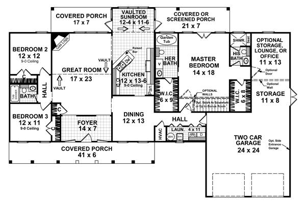 Floorplan image of Featured House Plan: BHG - 5758