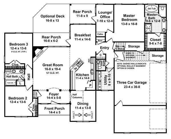 Floorplan image of Featured House Plan: BHG - 5699