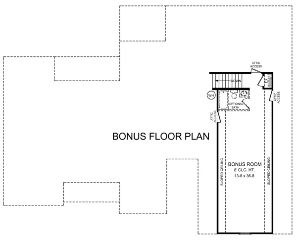 Bonus Room Floorplan image of Featured House Plan: BHG - 5699