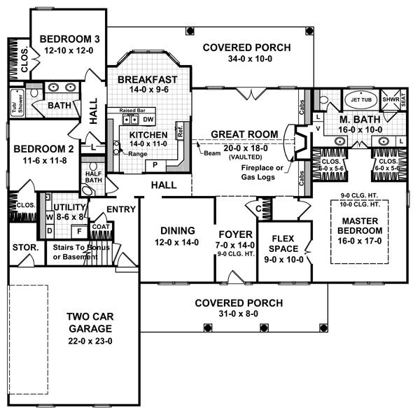 Floorplan image of Featured House Plan: BHG - 5751