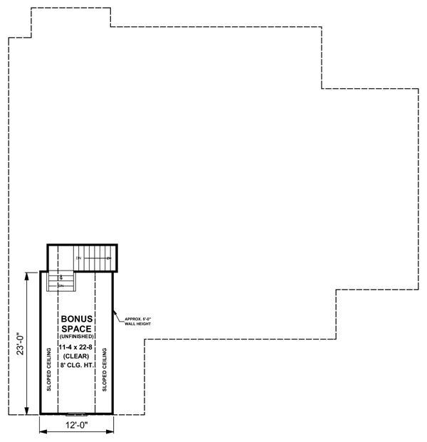 Bonus Room Floorplan image of Featured House Plan: BHG - 5751