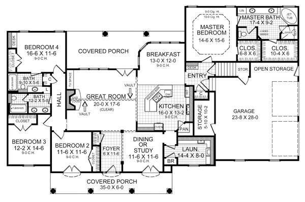 Floorplan image of Featured House Plan: BHG - 5716