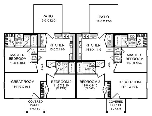 1st Level Floorplan image of Featured House Plan: BHG - 7084