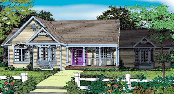 Front Rendering image of Featured House Plan: BHG - 5579