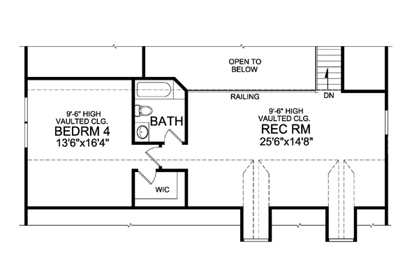 Optional Finished Second Floor image of Featured House Plan: BHG - 5115