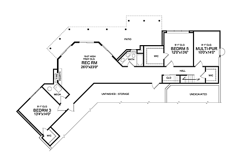 Optional Walk-out Basement Plan image of Featured House Plan: BHG - 5241