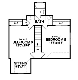 Bonus Second Floor Plan image of Featured House Plan: BHG - 4968