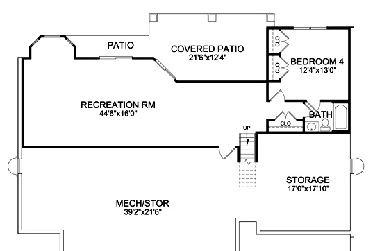 Lower Level image of Featured House Plan: BHG - 4968